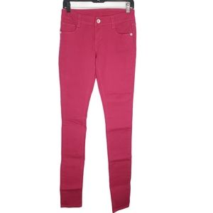 Alloy Apparel Cotton Bright Color Pink Red Jeans